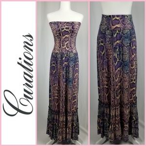 NWOT Curations Convertible Maxi Dress/ Skirt